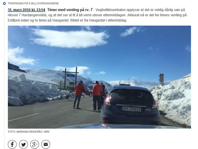 300 millionar vegkroner kan glippa for Hardangervidda