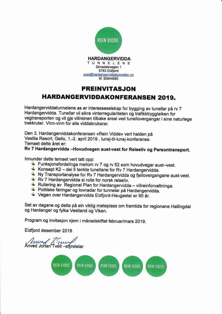 Rein Vidde 2019 – Hardangerviddakonferansen 2019